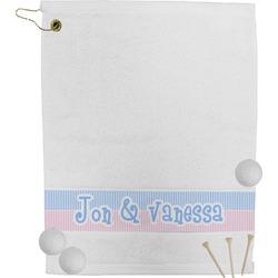 Striped w/ Whales Golf Towel (Personalized)