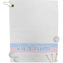 Striped w/ Whales Golf Towel (Personalized)