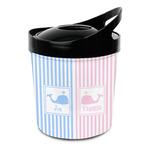 Striped w/ Whales Plastic Ice Bucket (Personalized)