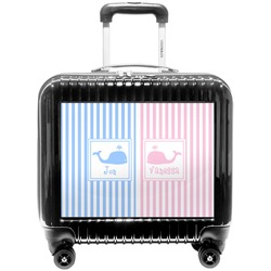 Striped w/ Whales Pilot / Flight Suitcase (Personalized)