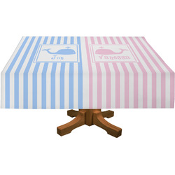 Striped w/ Whales Rectangle Tablecloth (Personalized)