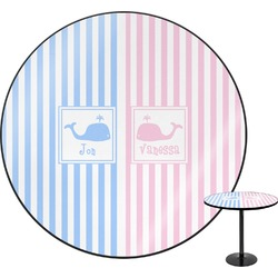 Striped w/ Whales Round Table (Personalized)