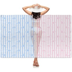 Striped w/ Whales Sheer Sarong (Personalized)