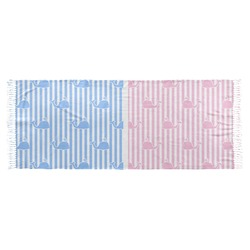 Striped w/ Whales Faux Pashmina Scarf (Personalized)