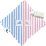 Striped w/ Whales Security Blanket (Personalized)