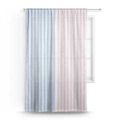 Striped w/ Whales Sheer Curtains (Personalized)