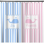 Striped w/ Whales Shower Curtain (Personalized)