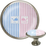 Striped w/ Whales Cabinet Knobs (Personalized)