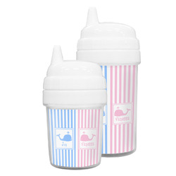 Striped w/ Whales Sippy Cup (Personalized)