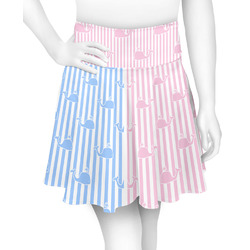 Striped w/ Whales Skater Skirt (Personalized)