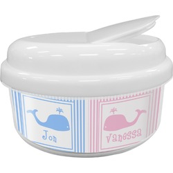 Striped w/ Whales Snack Container (Personalized)