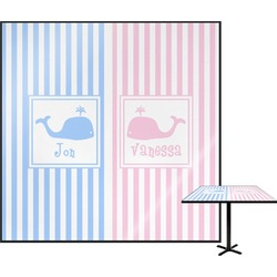 Striped w/ Whales Square Table Top (Personalized)
