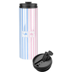 Striped w/ Whales Stainless Steel Tumbler (Personalized)