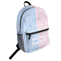 Striped w/ Whales Student Backpack (Personalized)