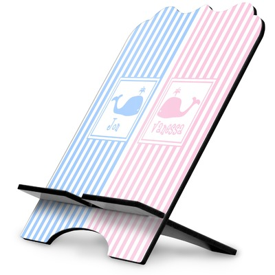 Striped w/ Whales Stylized Tablet Stand (Personalized)