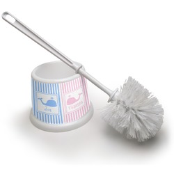 Striped w/ Whales Toilet Brush (Personalized)