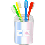Striped w/ Whales Toothbrush Holder (Personalized)