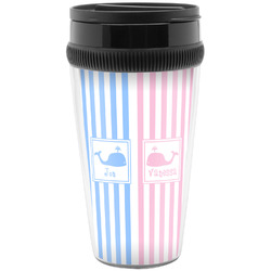 Striped w/ Whales Travel Mugs (Personalized)