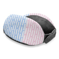 Striped w/ Whales Travel Neck Pillow