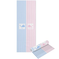Striped w/ Whales Yoga Mat - Printable Front and Back (Personalized)