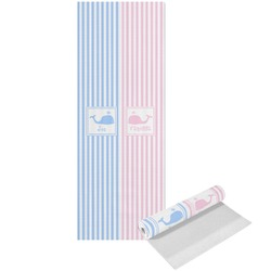 Striped w/ Whales Yoga Mat - Printed Front (Personalized)