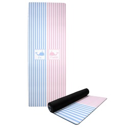 Striped w/ Whales Yoga Mat (Personalized)