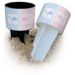 Striped w/ Whales Beach Spiker Drink Holder (Personalized)