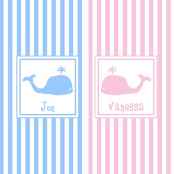 Striped w/ Whales