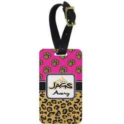 Jags w/Pink Aluminum Luggage Tag (Personalized)