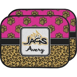 Jags w/Pink Car Floor Mats (Back Seat) (Personalized)