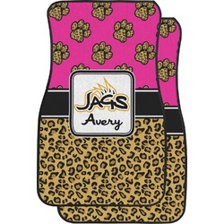 Jags w/Pink Car Floor Mats (Front Seat) (Personalized)