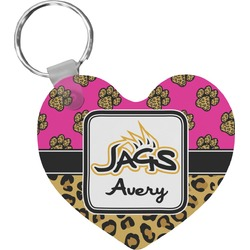 Jags w/Pink Heart Keychain (Personalized)