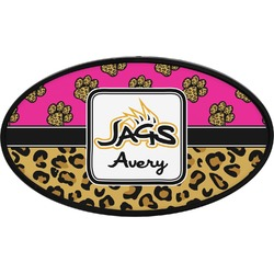Jags w/Pink Oval Trailer Hitch Cover (Personalized)