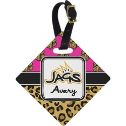 Jags w/Pink Diamond Luggage Tag (Personalized)