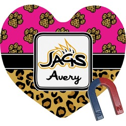 Jags w/Pink Heart Fridge Magnet (Personalized)