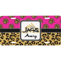 Jags w/Pink Front License Plate (Personalized)