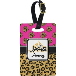 Jags w/Pink Rectangular Luggage Tag (Personalized)