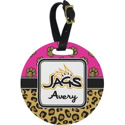 Jags w/Pink Round Luggage Tag (Personalized)