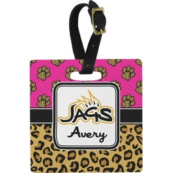 Jags w/Pink Square Luggage Tag (Personalized)