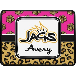 Jags w/Pink Rectangular Trailer Hitch Cover (Personalized)