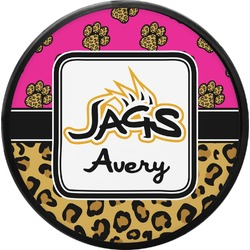 Jags w/Pink Round Trailer Hitch Cover (Personalized)