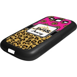 Jags w/Pink Rubber Samsung Galaxy 3 Phone Case (Personalized)