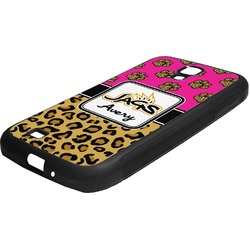 Jags w/Pink Rubber Samsung Galaxy 4 Phone Case (Personalized)