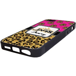 Jags w/Pink Rubber iPhone 5/5S Phone Case (Personalized)