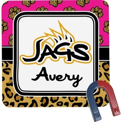 Jags w/Pink Square Fridge Magnet (Personalized)