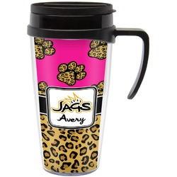 Jags w/Pink Travel Mug with Handle (Personalized)
