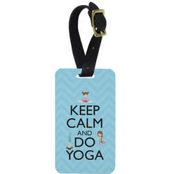 Keep Calm & Do Yoga Aluminum Luggage Tag