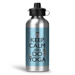 Keep Calm & Do Yoga Water Bottle - Aluminum - 20 oz