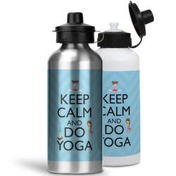 Keep Calm & Do Yoga Water Bottles- Aluminum