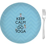 Keep Calm & Do Yoga Glass Appetizer / Dessert Plates 8